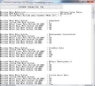 Penggunaan Struct Pada C++ (Program Penghitung IPK)