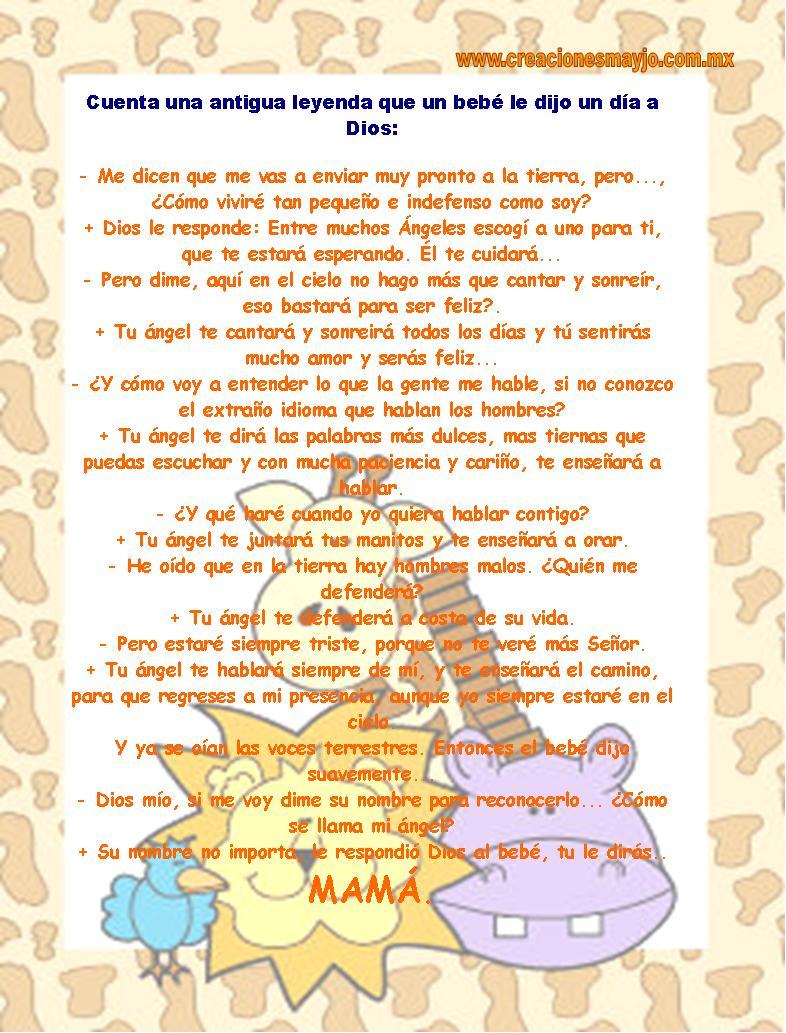 Leyenda para baby shower - Imagui