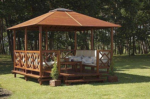Wooden Minimalist Gazebo Design Exterior | Next Interior Design