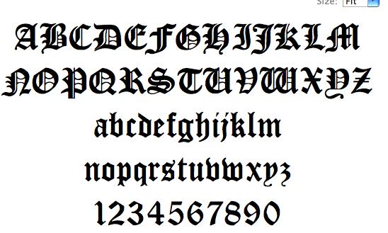 Black Letter Font A Splice hybrid font : blackletter fonts
