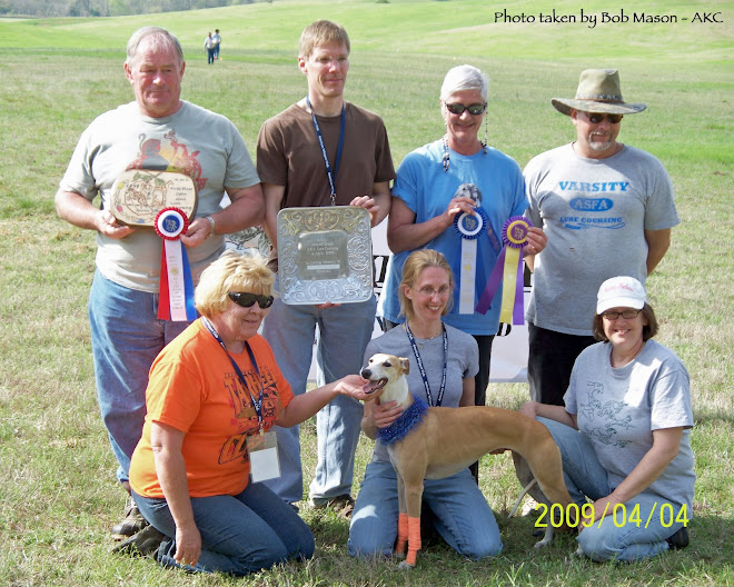 BOB Winner at AWC National Specialty AKC Lure Coursing Trial