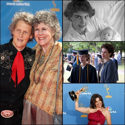 Julia Ormond Gives Emmy To Mother Of Temple Grandin At Vista Del Mar