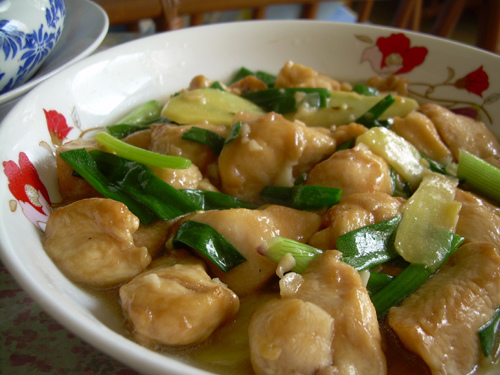 My recipes ginger spring onion chicken ginger spring onion chicken forumfinder Images