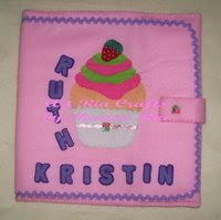 Strawberry Cup Cake File Cover 4 Ruth Kristin by Monica Ria