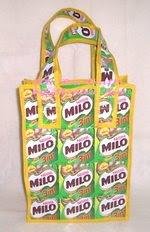 Milo Recycle Bag - Art Ria Crafts by Monica Ria