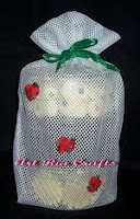 Trio Flowers Cookies Goody Bag - Art Ria Crafts by Monica Ria