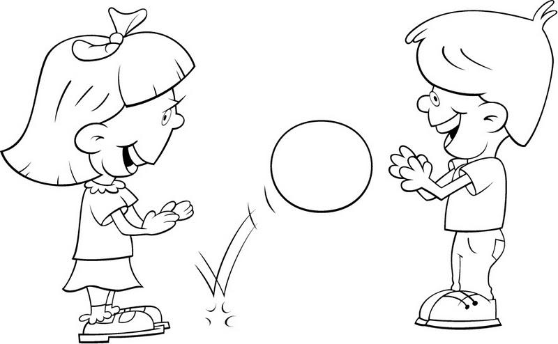 Imagenesde niños jugando para colorear - Imagui
