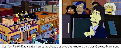 George Harrison en los Simpson