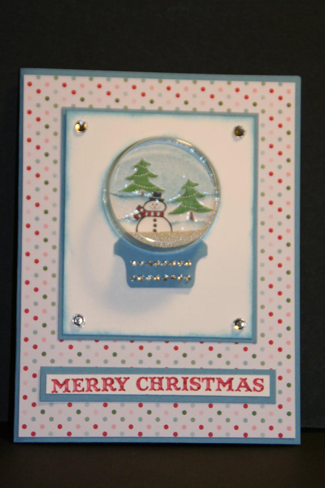 My Creative Corner Sweet Treat Cups Snow Globe Christmas Card