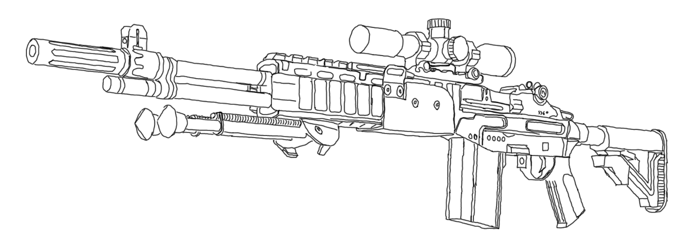 Gun Pencil Drawings But a Physical Drawing