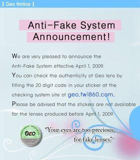 ANTI-FAKE System