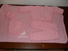 conjunto de bebe em croche