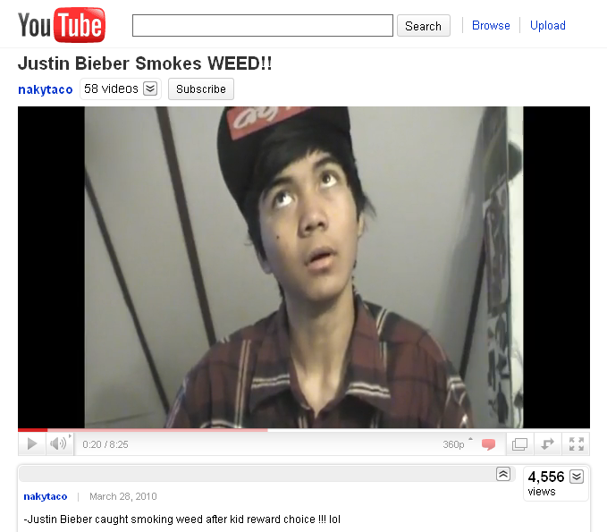 Justin Bieber Smokes Weed: Justin Bieber Smoking Weed Photo Allie Is ..