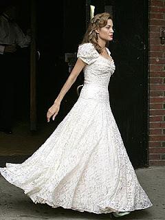 angelina jolie's wedding dress in the good sheperd movie, vintage wedding dress