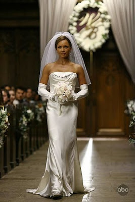 vanessa williams from ugly betty in a sheath wedding dress style