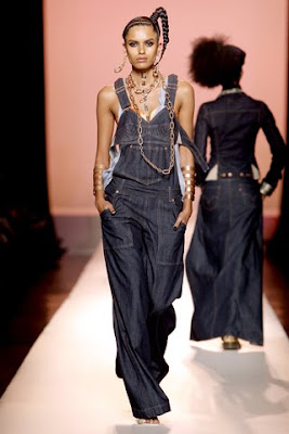 jean paul gaultier spring summer 2010 collection, denim trend,