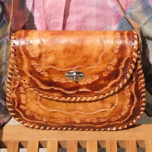 saddle bag, leather saddle bag