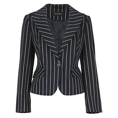 pinstripe jacket, navy pinstripe jacket, ladies pinstripe jacket