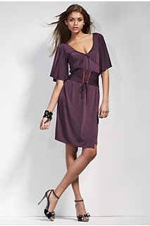 miss sixty purple jersey dress