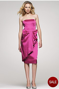 bright pink satin oasis dress