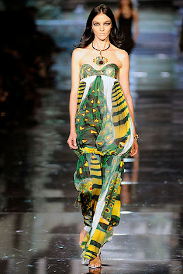 roberto cavalli tribal printed dress