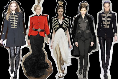 Military jackets from Temperley, Ralph Lauren, Alexander McQueen, Derek Lam & Collette Dinnigan