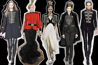 Military jackets from Temperley, Ralph Lauren, Alexander McQueen, Derek Lam & Collette Dinnigan