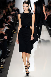 black sleeveless shift dress by Michael Kors, autumn 09/10