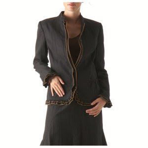 ANNE WEYBURN Crinkle Twill Weave Jacket,ladies workwear