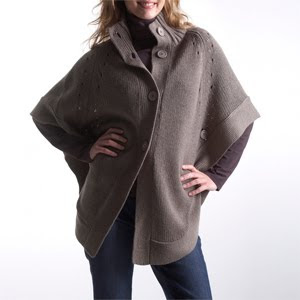 Ladies Knitwear Autumn/Winter 09/10, long cape-style cardigan