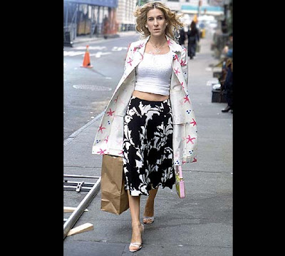 Sex and the City - Carrie Bradshaw -eclectic look - played by Jessica Sarah Parker
