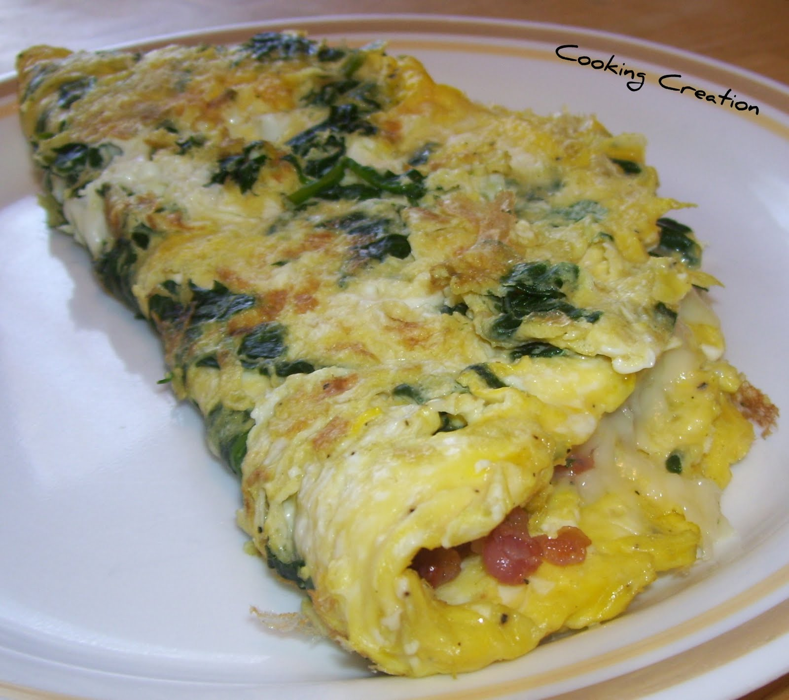Cooking Creation: Pancetta and Spinach Omelette