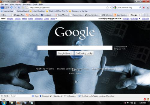 Cara Ganti Background Google