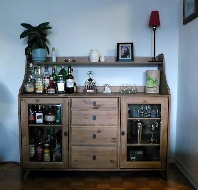 Ikea bar cabinet hack