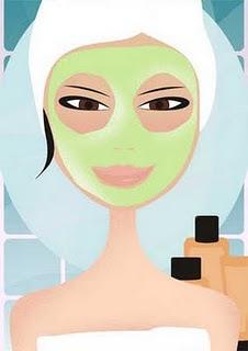 La maschera per casa affronta la pelle