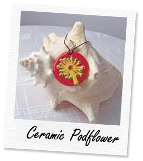 ceramic podflower pendant