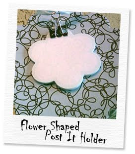 flower shaped post it note clipboard holder