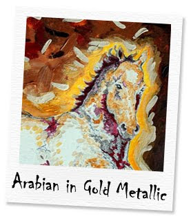 arabian in gold metallic