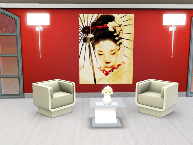 nueva mesh para cuadro con imagenes diferentes inspiradas en geishas crditos workshop