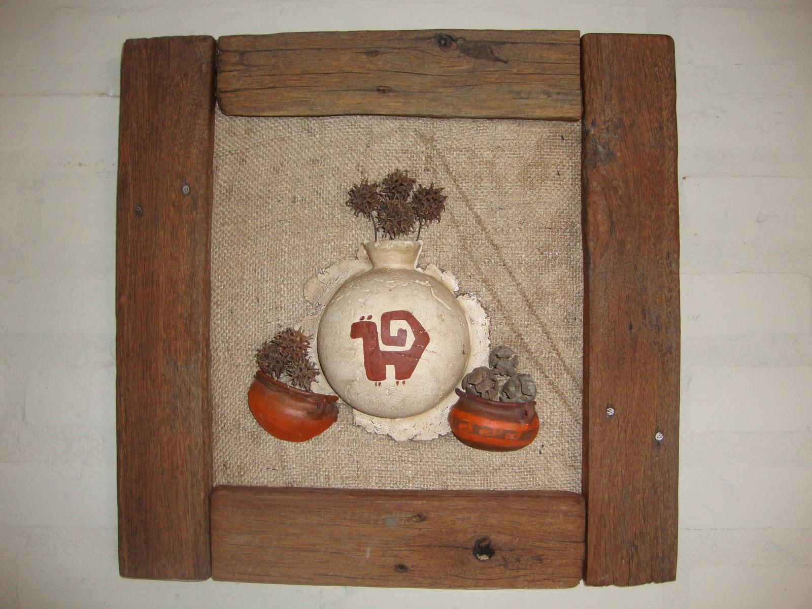 Yumbrel artesanias cuadros con detalles de pasta piedra - Cuadros con piedras ...