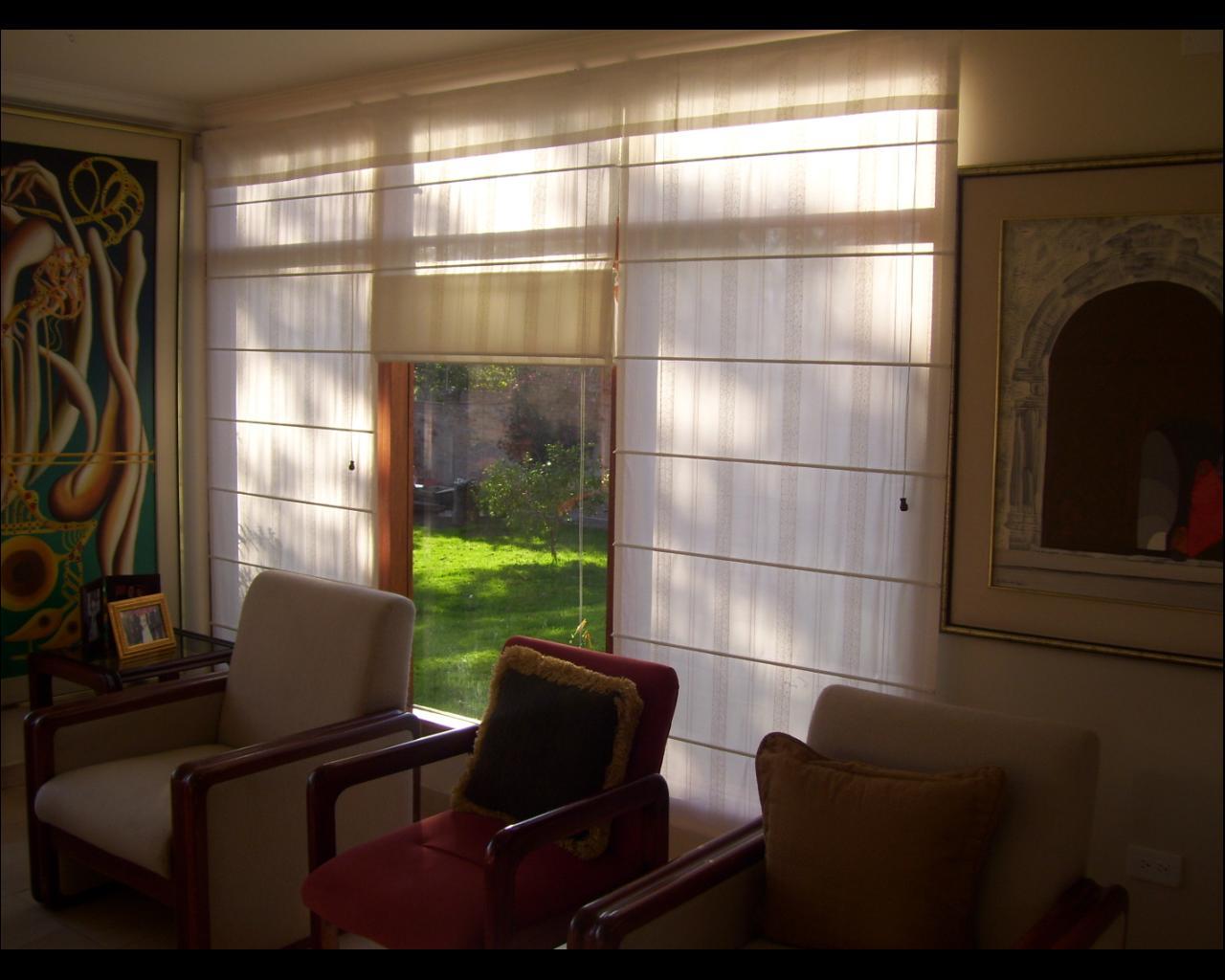 Abacor decoraciones cortinas del ecuador cortinas romanas for Cortinas para dormitorio quito