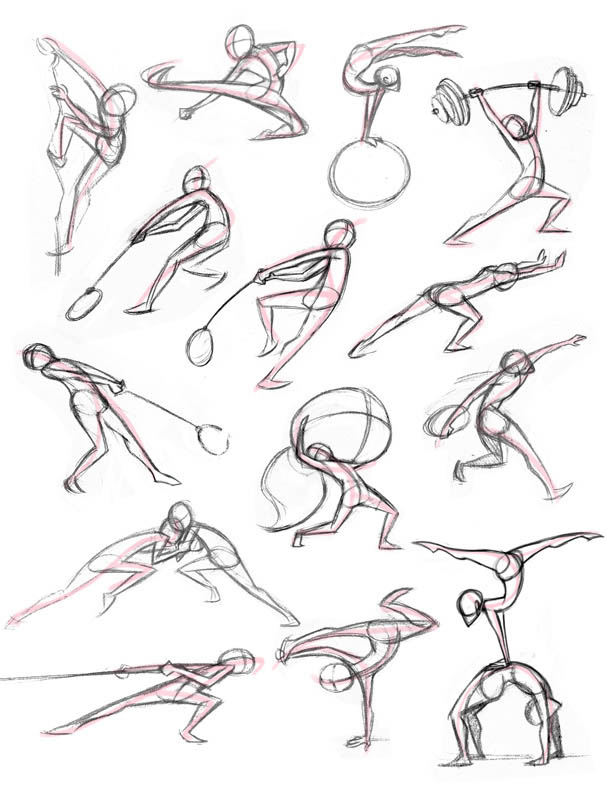 Character Design Line Of Action : Kitty fung art and animation stu poses from class
