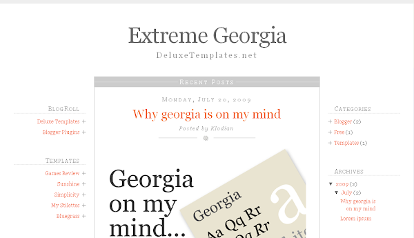 Extreme Georgia Blogger Template