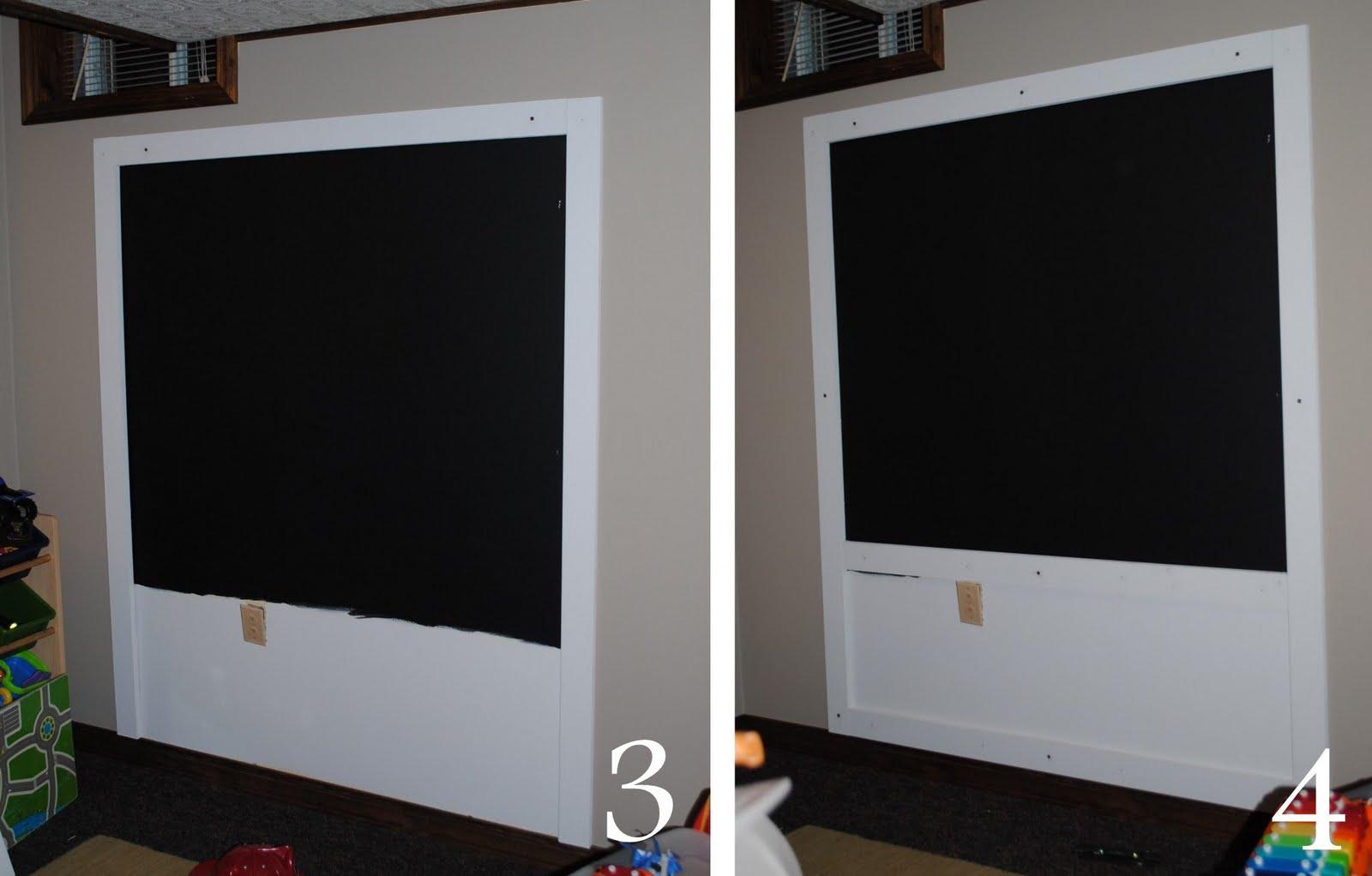 DIY Creating A Framed Chalkboard Wall Jenna Burger - Diy basement wall panels