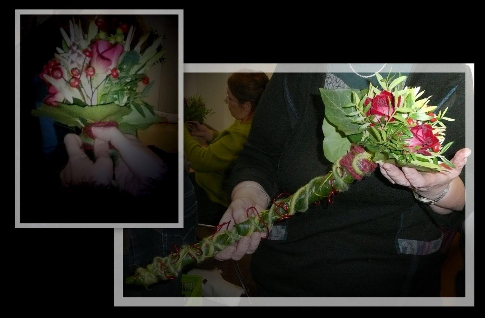 Atelier art floral antoing bouquet li - Laisser libre cours a son imagination ...