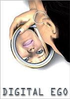 afbeelding van iemand die in de spiegel naar zijn spiegelbeeld kijkt