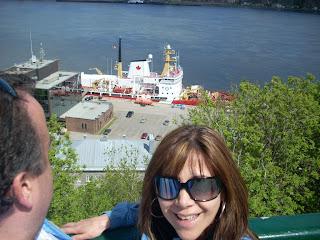 Los márgenes del río St. Lawrence en la ciudad de Québec