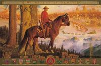 El Mountie sobre su caballo