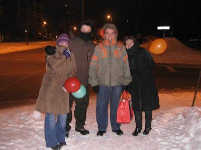 Con viento: Romi, Adrian, yo y Moni