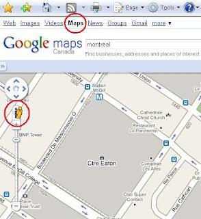 Entren a Google y vayan a Mapas, ven el hombrecito en amarillo?